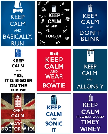 Difficult to keep calm when it comes to doctor who