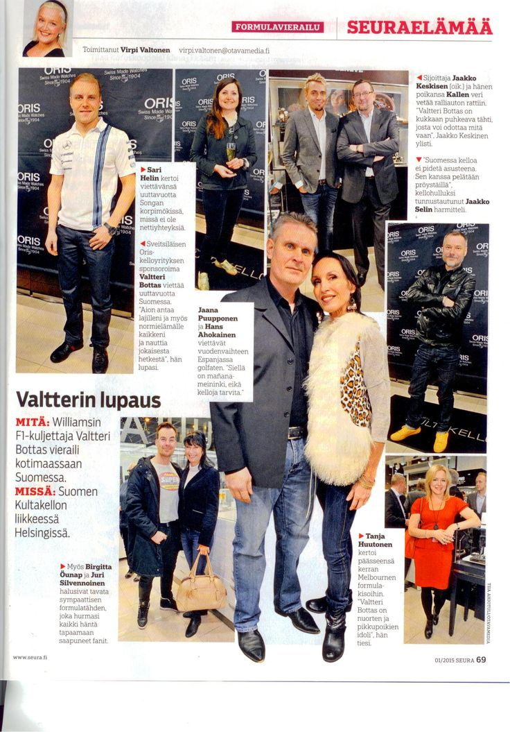 Valtteri Bottas | Oris | Suomen Kultakello 17.12.2014 #valtteribottas #oris #suomenkultakello