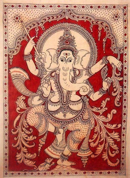 Indian Painting Styles...Kalamkari Paintings (Andhra Pradesh)-ganesha1-3-.jpg