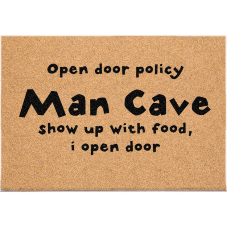 D89666 - 24 x 36 DuraCoir Funny Mat - Man Cave Open Door Policy by DoormatsDirect on Etsy https://www.etsy.com/listing/249273751/d89666-24-x-36-duracoir-funny-mat-man