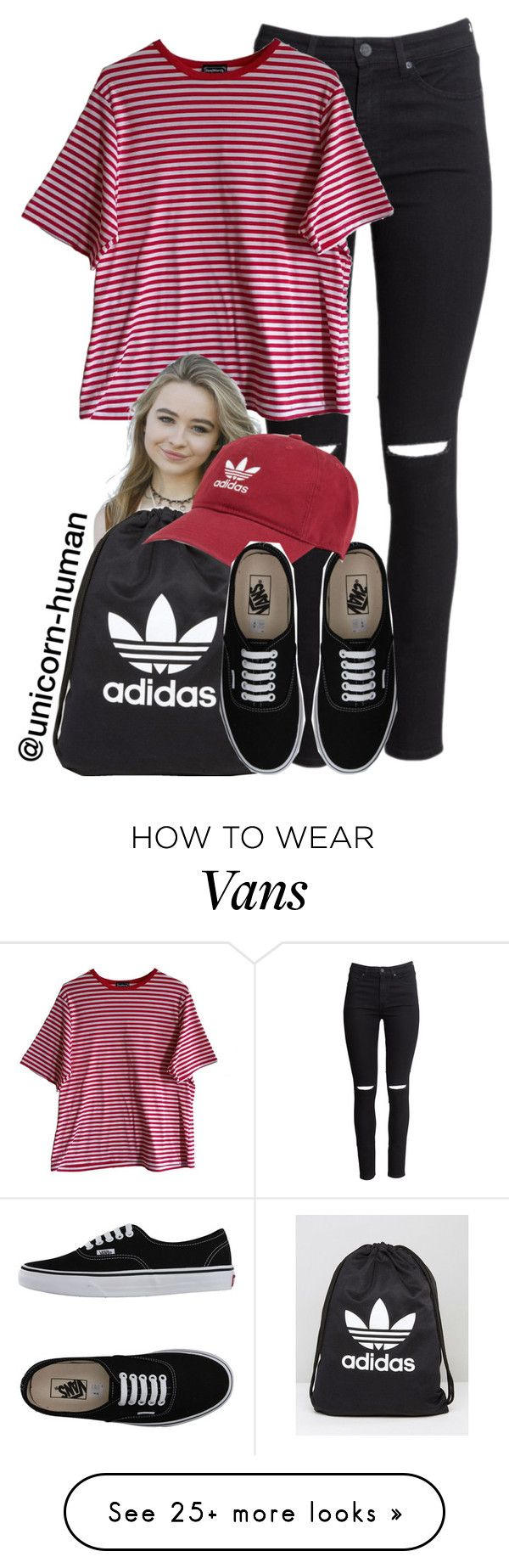 """""""Untitled #2936"""" by unicorn-human on Polyvore featuring H&M, Vans and adidas"""