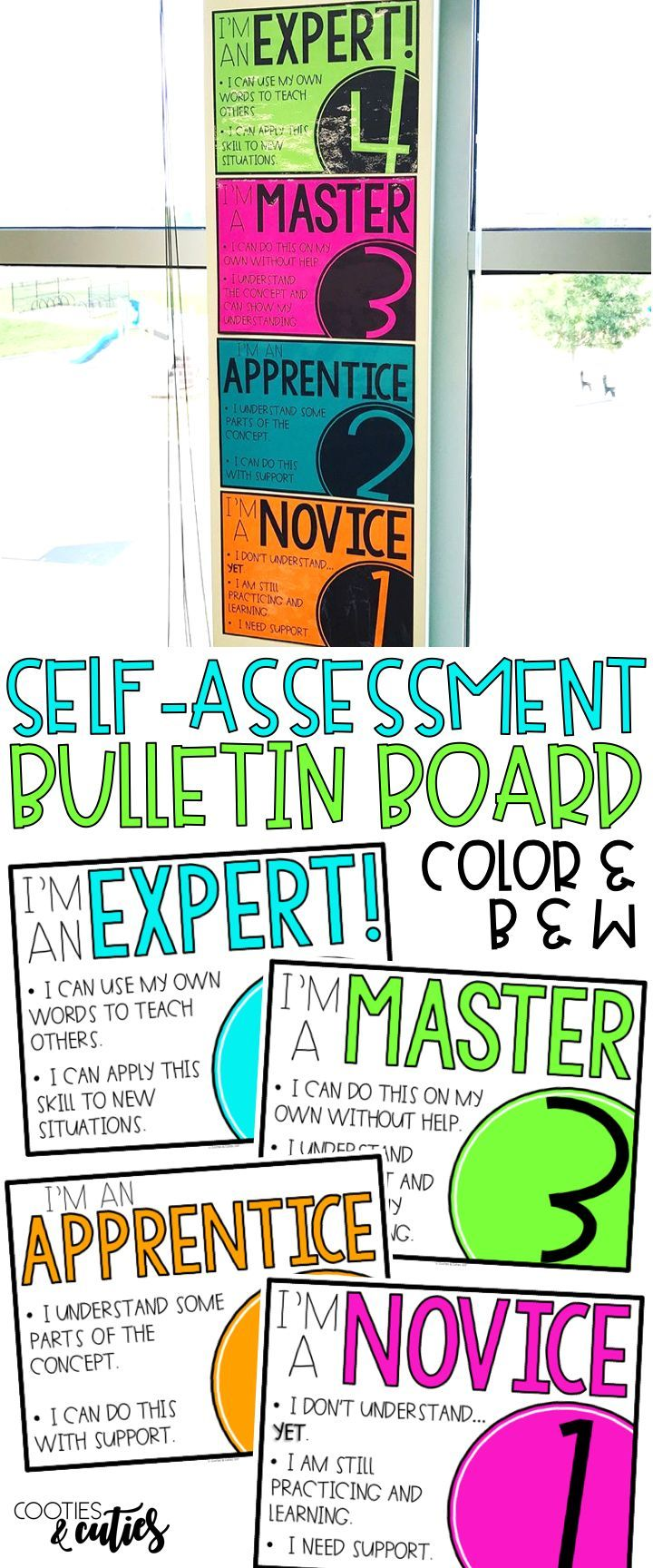 Raise your students' level of engagement with this quick and easy self assessment. Use the bulletin board to form quick, on-the-spot groups or attach smaller self-assessment sticky notes to student desks for easy check-ins.
