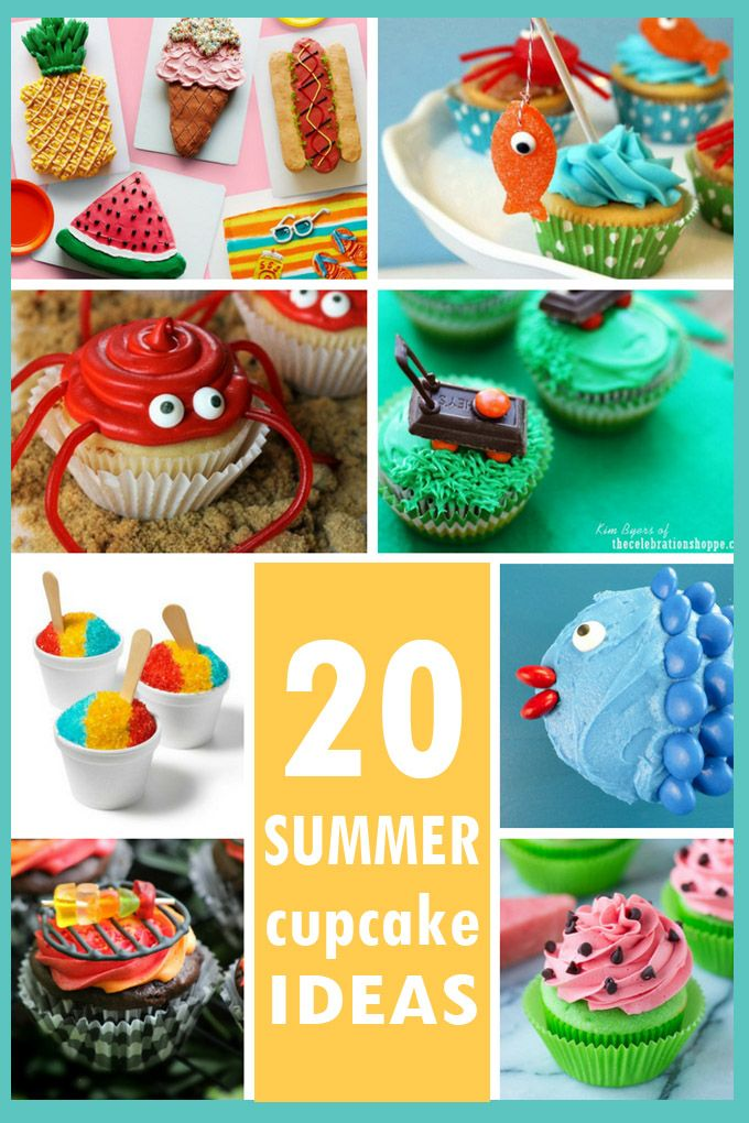 Summer Cupcakes A Roundup Of Ideas For Decorating Cupcakes With