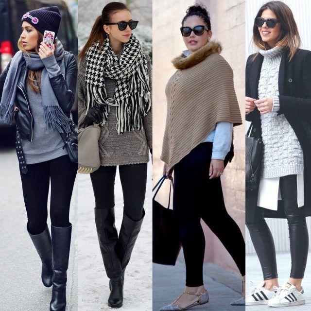 Outfit con i leggings neri: 8 look copiabili, comodi e