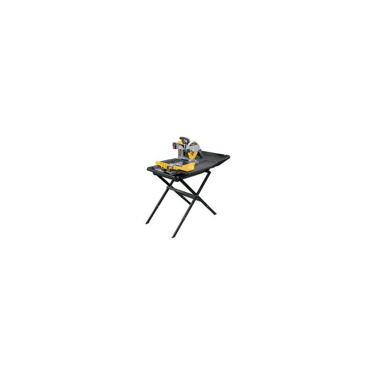 """Dewalt D24000S 10"""" Wet Tile Saw with Stand and Cantilevering Rail and Cart Syste Power Tools Saws Tile Saws"""