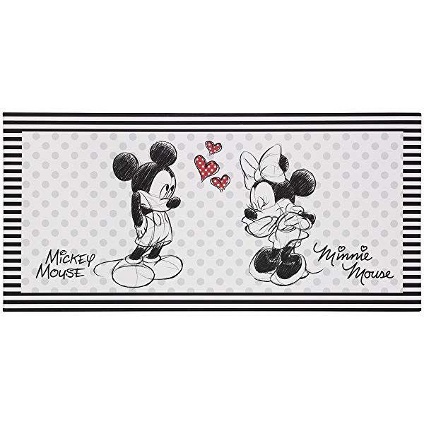amazon de keilbild wandbild leinwand minnie und micky mouse 35x35 cm mickey kunst keilrahmen rahmen dekoration foto auf ohne 120x60