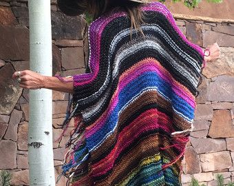 Lunghezza dell'anca a maglia Womens Boemia hippy di poshbygosh