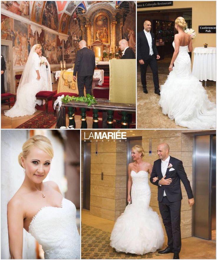 Annamarie menyasszony by La Mariée Budapest - Beca esküvői ruha by Pronovias http://lamariee.hu/eskuvoi-ruha/pronovias/beca