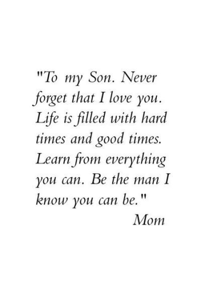 Proud Of My Son Quotes And Sayings Words Mother Son Quotes Mom