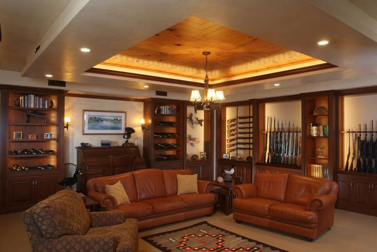 Man Cave Gun Decor : Another hunting room armory dream house man cave