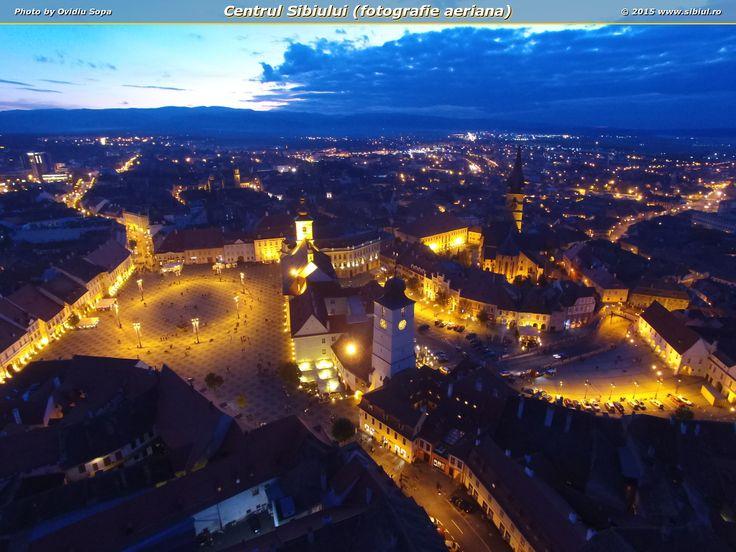 Centrul Sibiului (fotografie aeriana)
