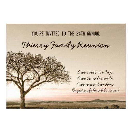 17 best Family Reunion Invitiations images on Pinterest Family - best of invitation letter sample reunion