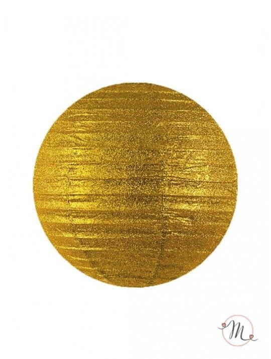 Lanterna decorativa di carta glitterata oro 25 cm. Ideali per allestire e decorare feste di ogni tipo. #matrimonio #weddingday #ricevimento #wedding #lanterne #decorazioni #sconti #offerta #carta #decorazioniincarta #weddingideas #ideasforwedding #gold #oro #glitter