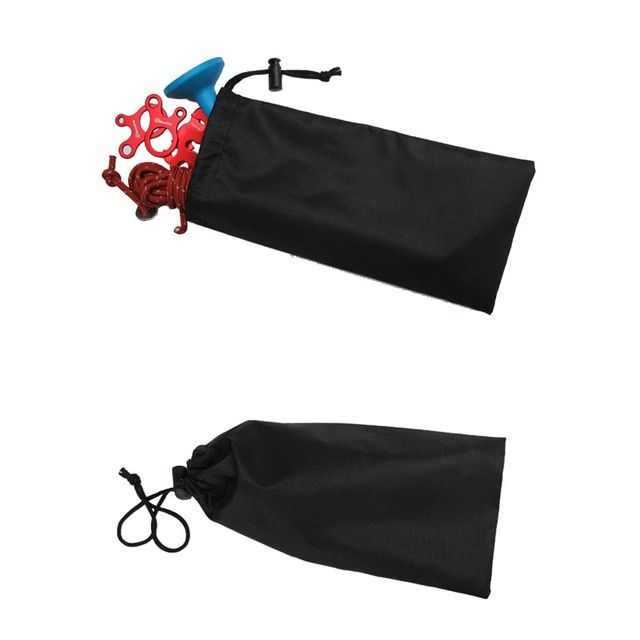 Forfar 23cm Cloth Tent Pegs Bag Camping Tent Accessories Hammer Wind Rope Tent Nail Storage Pouch Cover Case Campin Tent Accessories Tent Pegs Camping Supplies