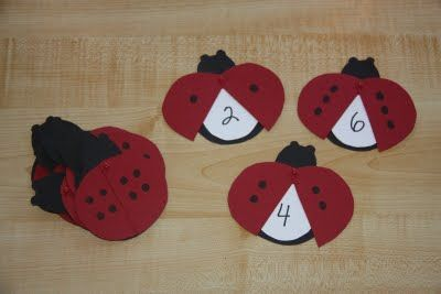ladybug counting Checkout this great post on Preschool Lesson Plans!