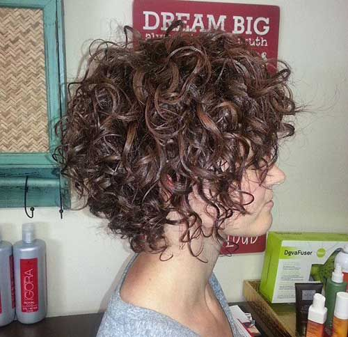 18.Hairstyle for Short Curly Hair