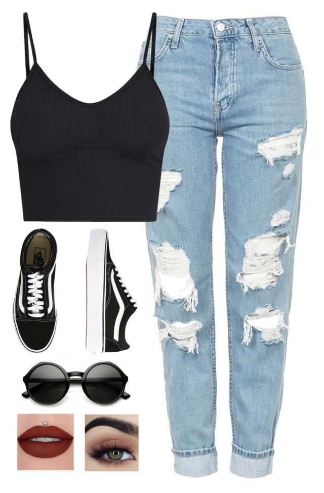 """""""Very cute, yet simple 46"""" by lollypopz951 on Polyvore featuring Topshop, Vans and ZeroUV"""