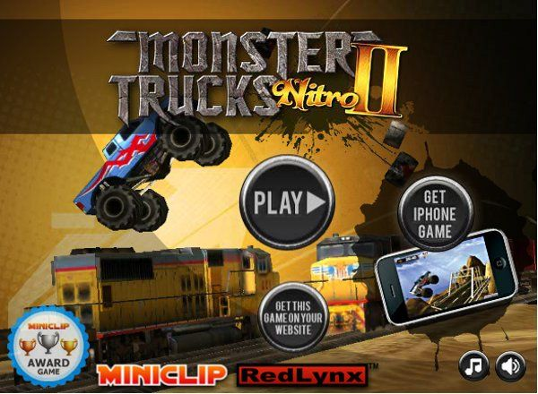 Monster Trucks Nitro 2   Drive massive, powerful Monster Trucks over jumps, trains & airplanes. Collect nitro boosts for extra power.