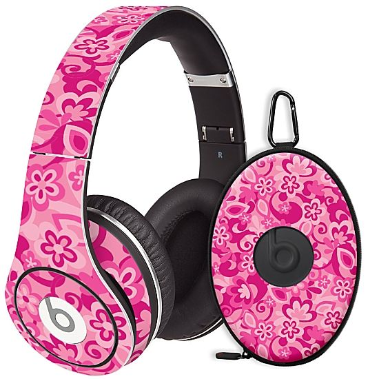 Pink Flower Power #Skin  for the #Beats #Studio #Headphones & Case by #Skinzy.com