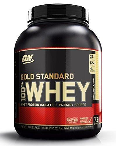 Optimum Nutrition Gold Standard 100% Whey Protein Powder French Vanilla Creme 5 Pound