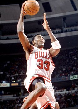 Scottie Pippen, NBA basketball player most remembered for his time with the Chicago Bulls, with whom he was instrumental in 6 NBA Championships. Born in Hamburg, AR.