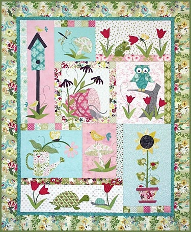 Tuella & Friends...This quilt is just darling. I love the turtle!