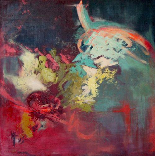 """Nicole Madore, """"Jusqu'à en perdre le souffle"""", acrylique sur toile"""