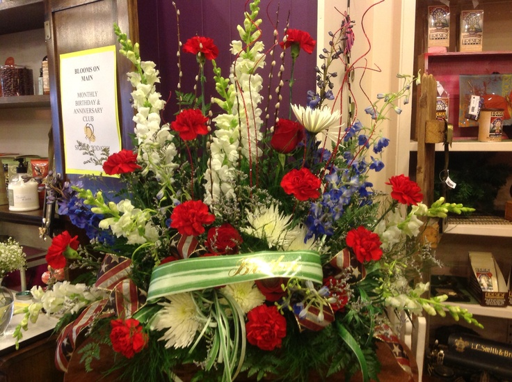 Red White And Blue Funeral Arrangement Funeral