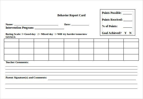 Free Report Card Template 14 Progress Report Card Templates Docs Word Pdf Pages Report Card Template Word Cards School Report Card