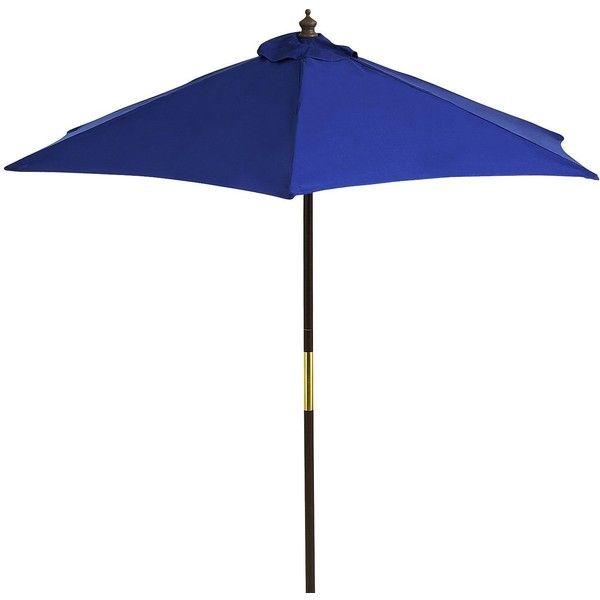 Pier 1 Imports Marine Blue Umbrella   7u0027 ($120) ❤ Liked On Polyvore