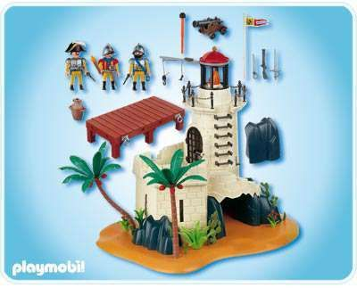 ... Playmobil Pirates Soldier Fortress with Lighthouse Set #4294