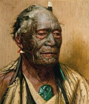 "Charles F Goldie ""Tamati Waka Nene"" Oil on Canvas. 455x405. 1934 (from photograph)"