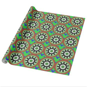 A colorful kaleidoscope pattern with many different. Have a green circle in the middle with white flower shape around it with a black shapes around there, you also have other shapes and pattern in the color green, red, blue and black. You can also customize it to get a more personal look. #kaleidoscope #abstract #abstract-pattern #green-circle #trendy #stylish #white-flower-shape #green #blue #black #modern #decorative