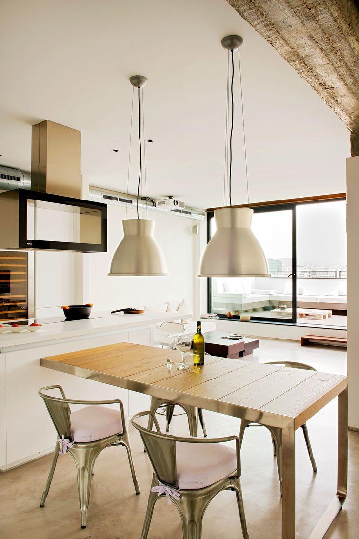 Comedor cocina salon terraza moderno decoracion via for Muebles terraza exterior