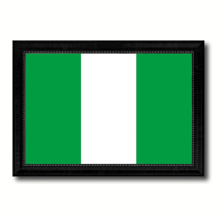 Nigeria Country Flag Canvas Print, Picture Frame Home Decor Gifts Wall