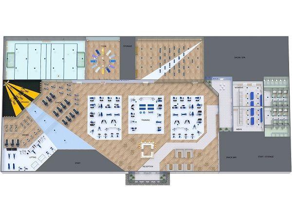 Gym Floor Plan Gym Planner Gym Design Interior Gym Flooring