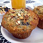 Recette Muffins bleuets et granola