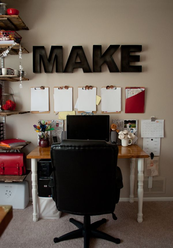 Work Space Update  + New Pallet Shelves | this heart of mine