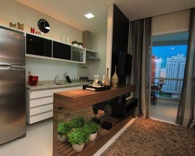 Blog Casa Moderna: Apartamento pequeno: sala e cozinha num só ambiente