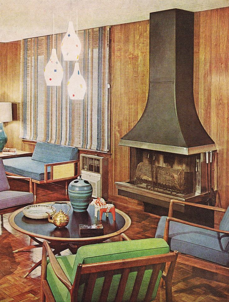 63 best classic 50s living spaces images on pinterest - Black owned interior design companies ...