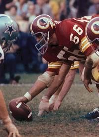 Hauss was a six-time Pro Bowler at center from 1967-72 and was a key lineman on the Redskins' Super Bowl team in 1972. Description from redskins.com. I searched for this on bing.com/images