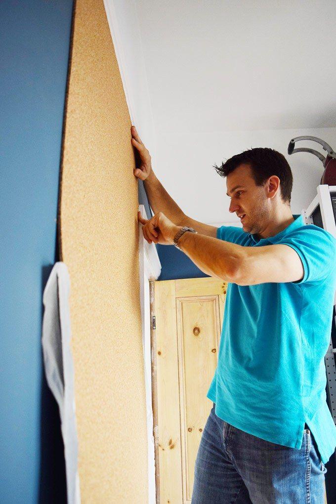 DIY Corkboard Wall                                                       …