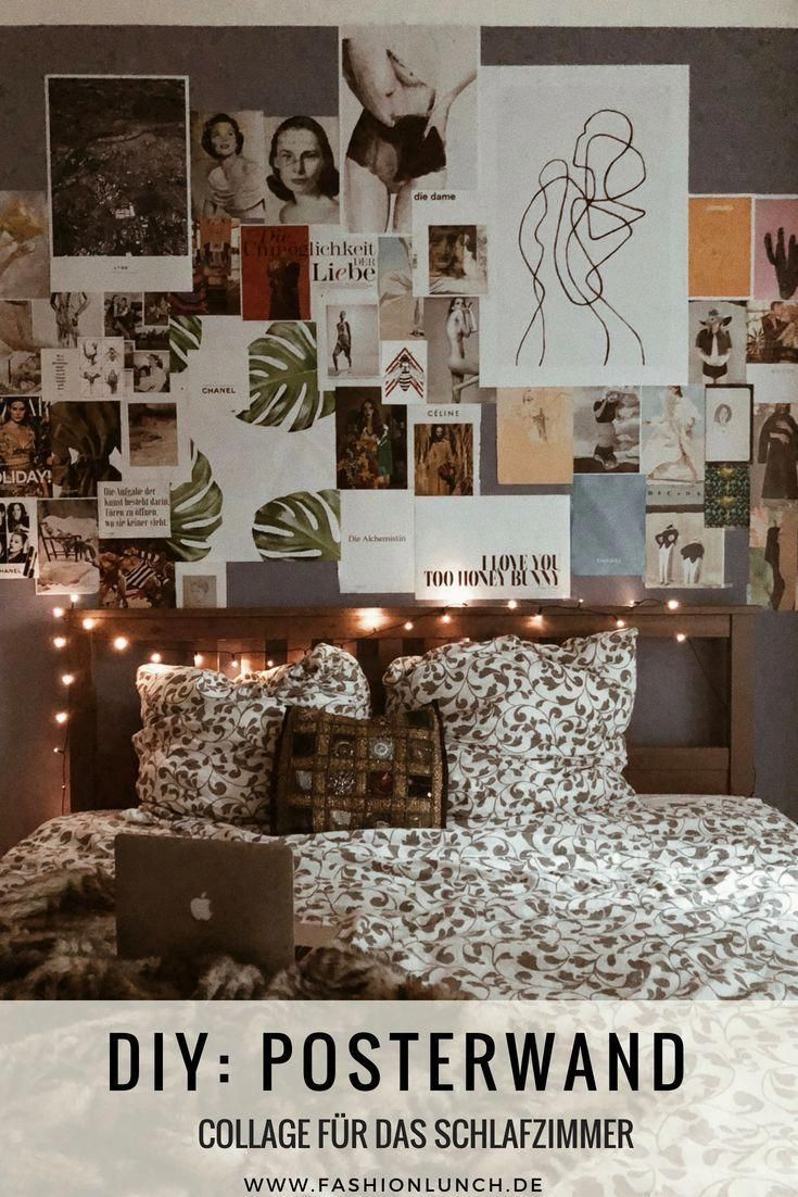 Lifestyle Plakatwand Im Schlafzimmer Selbst Gestalten Diy Gestalten Lifestyle Plakatwand Schlafzi Wall Decor Bedroom Bedroom Posters Photo Wall Collage