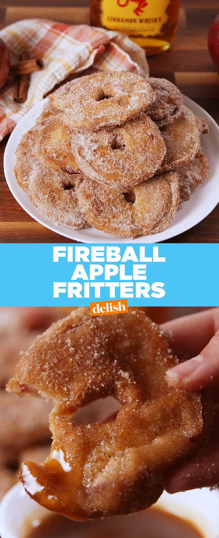 Fireball + apples = boozy bliss. Get the recipe from Delish.com.