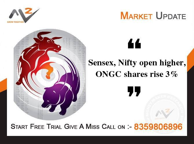 The #BSE #Sensex opened higher on #Tuesday against the previous session's closing. The broader #NSE's Nifty, too, rose in the morning hours. The #Indian #rupee strengthened marginally against the US dollar. The shares of ONGC, Hindustan Unilever, NTPC rose, whereas the shares of Hero M&M and Sun Pharma fell. #MoneyMakerResearch