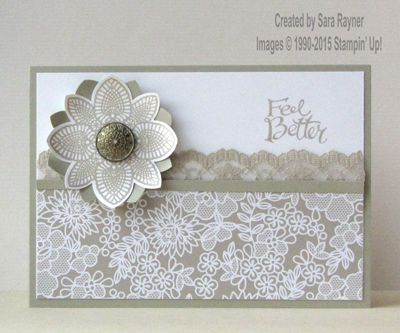Something borrowed get well card, using supplies from Stampin' Up! www.craftingandstamping.com #stampinup