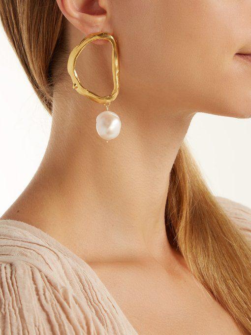 751204051254c Alighieri Dante's Shadow gold-plated earrings   SHOES in 2019 ...