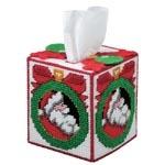 Traditional Santa Tissue Box Plastic Canvas Kit