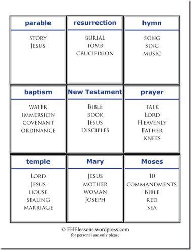 church words taboo game