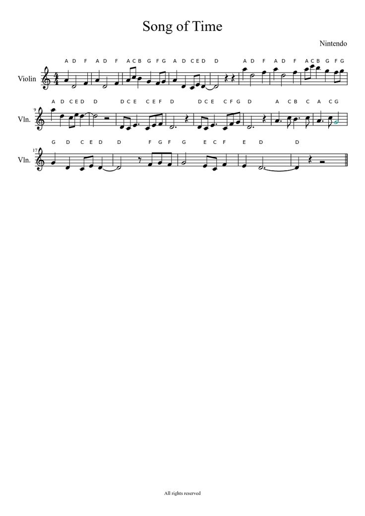 Sheet music made by Mining Journalist for Violin